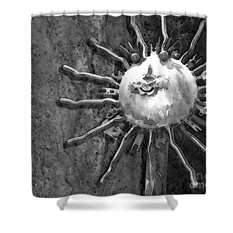 Sun Shower Curtain featuring the photograph Here Comes The Sun by Debbi Granruth