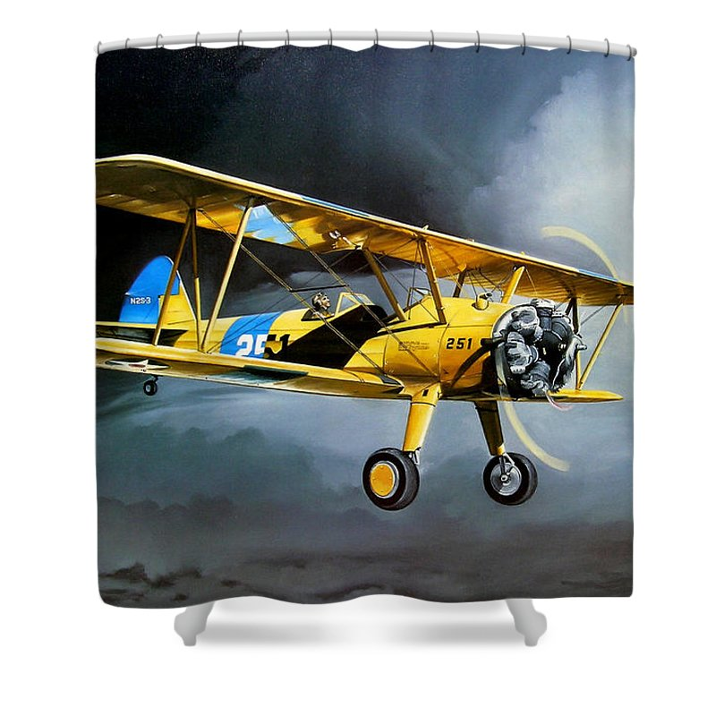 Military Shower Curtain featuring the painting Here Comes The Sun by Marc Stewart