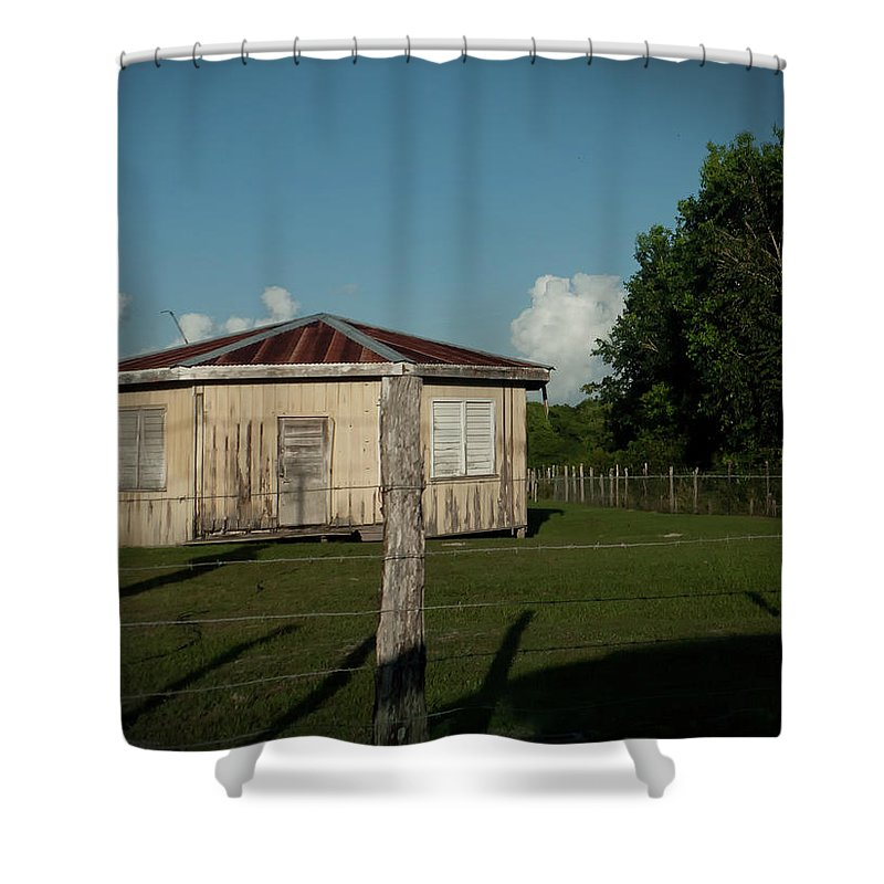 Hezagon Shower Curtain featuring the photograph Hexagon House by Jessica Levant