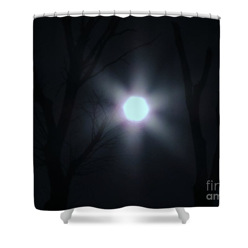 New Shower Curtain featuring the photograph Hexed Moon by Rick Maxwell