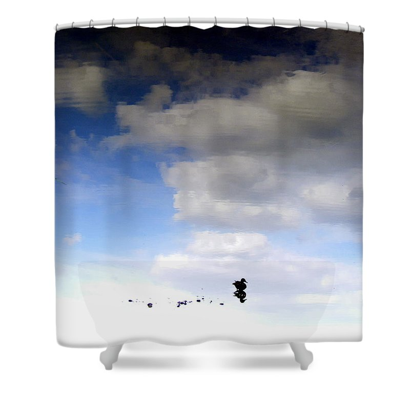 Hey Is This Heaven Shower Curtain featuring the photograph Hey Is This Heaven by Edward Smith