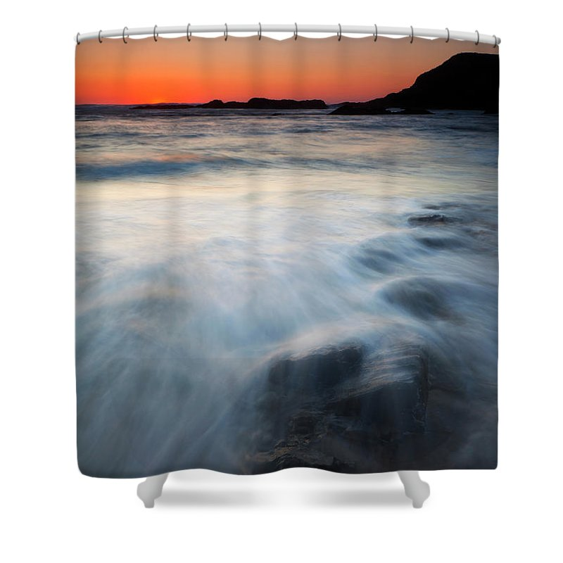Seal Rock Shower Curtain featuring the photograph Hidden Beneath The Tides by Mike Dawson