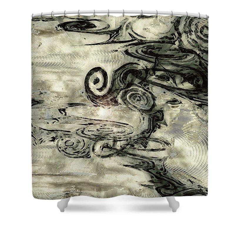 Hidden Dreams Art Shower Curtain featuring the digital art Hidden Dreams by Linda Sannuti