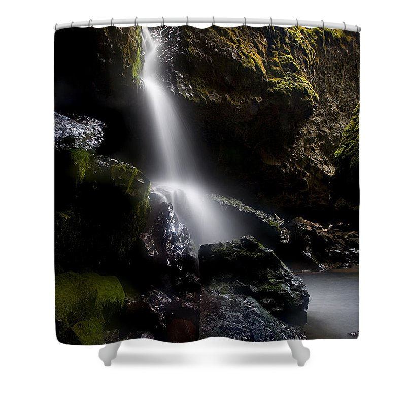 Waterfall Shower Curtain featuring the photograph Hidden Falls by Mike Dawson