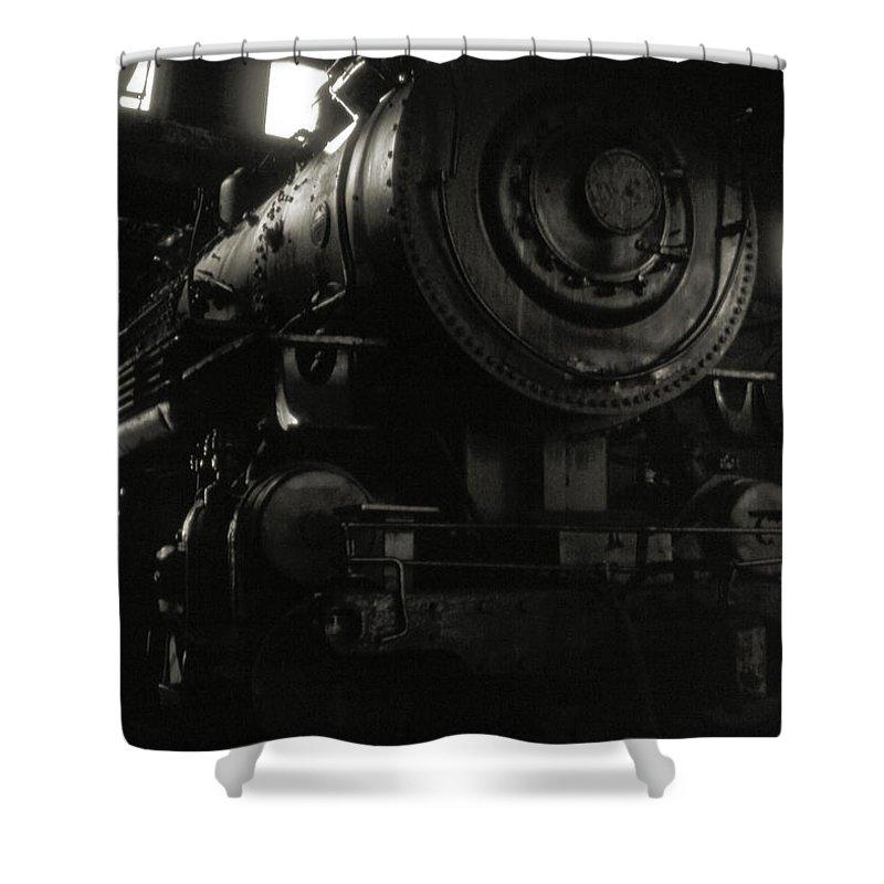 Railroads Shower Curtain featuring the photograph Hidden Legend by Richard Rizzo