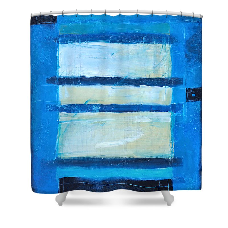 Abstract Shower Curtain featuring the painting Hidden Moon by Tim Nyberg