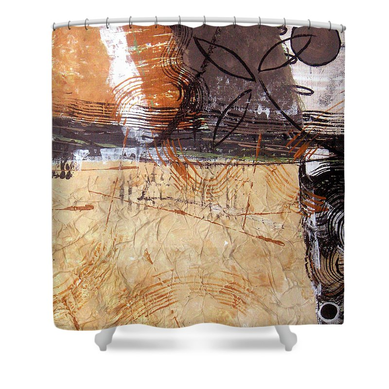 Abstract Shower Curtain featuring the painting Hidden Treasures II by Ruth Palmer