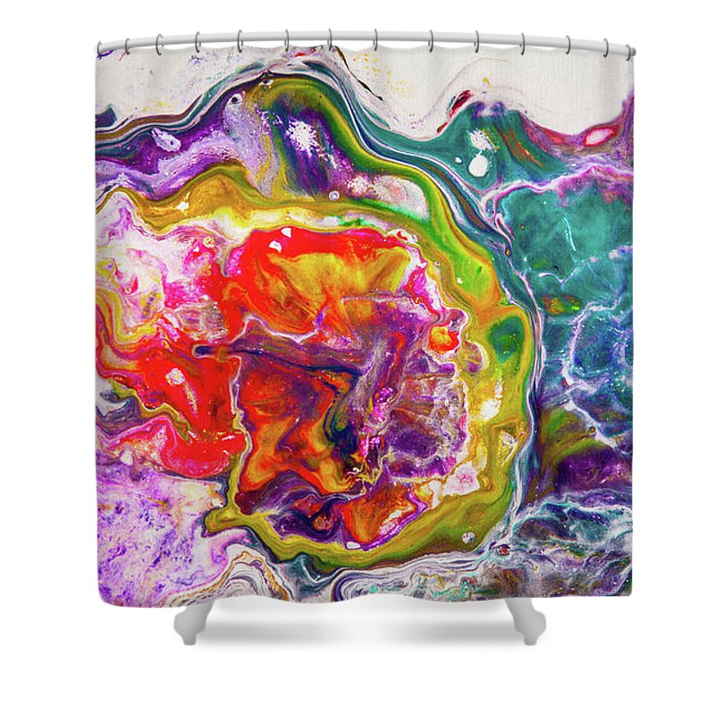 Art Shower Curtain Featuring The Painting Hidden Universe