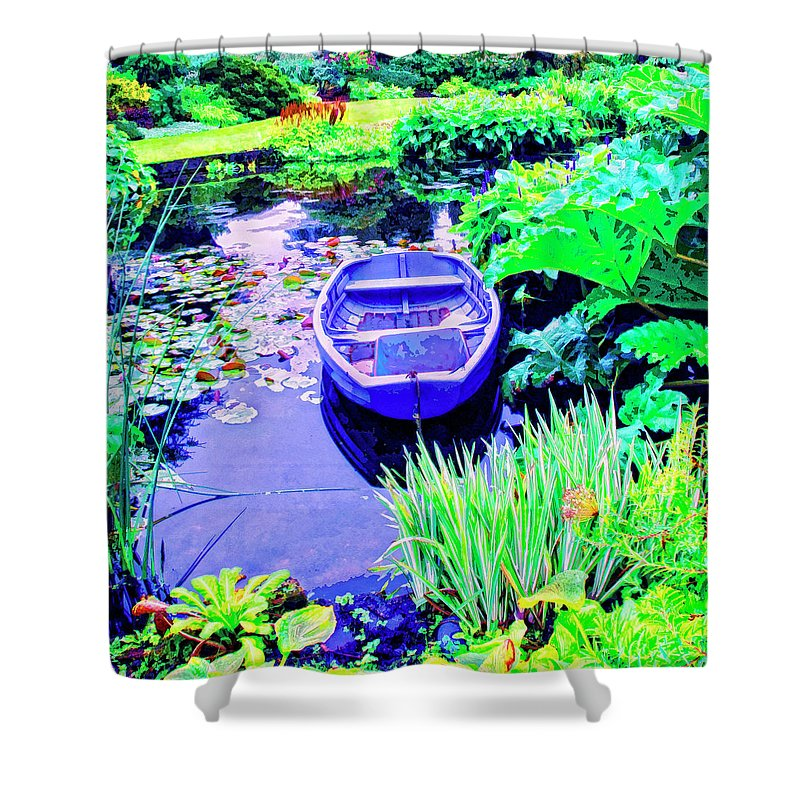 Hideaway Shower Curtain featuring the mixed media Hideaway by Dominic Piperata