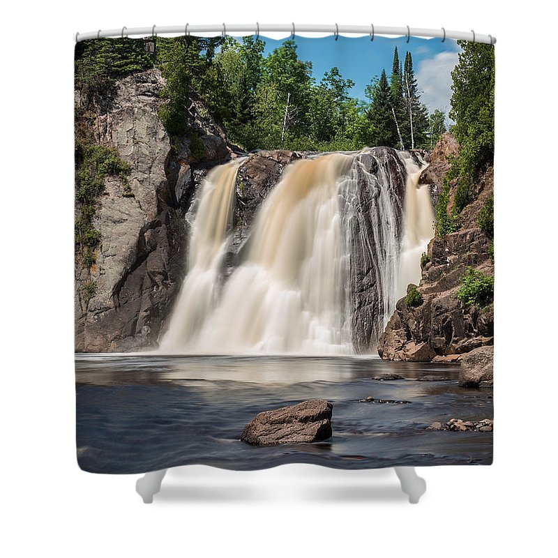 Waterfall Shower Curtain featuring the photograph High Falls Of Tettegouche State Park2 by AMB Fine Art Photography