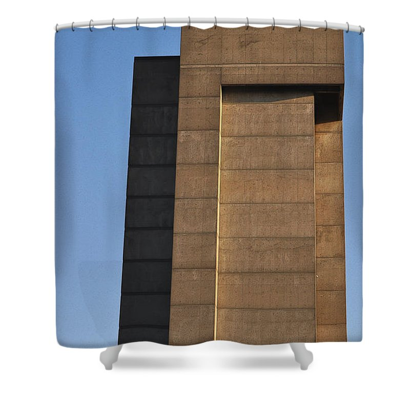 Building Shower Curtain featuring the photograph High Rise by Tim Nyberg