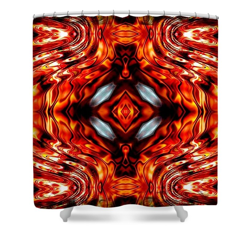 Abstract Shower Curtain featuring the digital art High Society by Robert Orinski