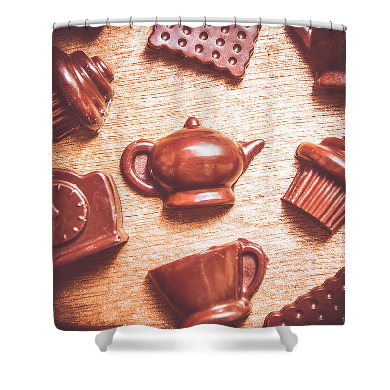 Tea Shower Curtain featuring the photograph High Tea Snacks by Jorgo Photography - Wall Art Gallery