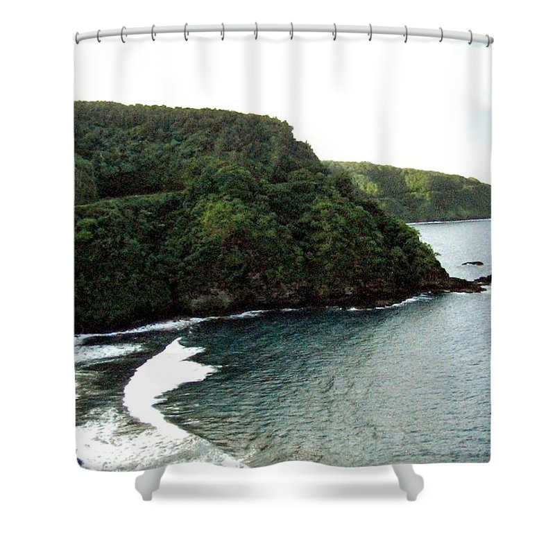 1986 Shower Curtain featuring the photograph Highway To Hana by Will Borden