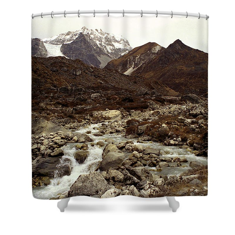 Himalaya Shower Curtain featuring the photograph Himalaya by Patrick Klauss