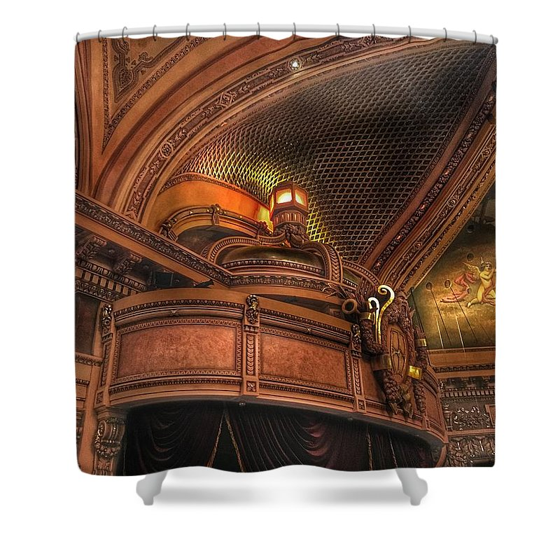 Hippodrome Shower Curtain featuring the photograph Hippodrome Theatre Balcony - Baltimore by Marianna Mills