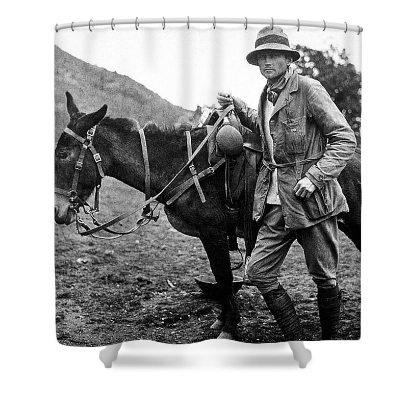 1911 Shower Curtain featuring the photograph Hiram Bingham (1875-1956) by Granger