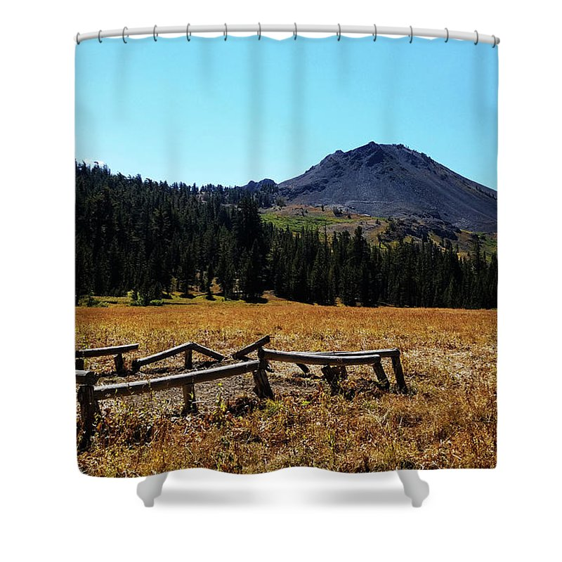 Highland Lakes Shower Curtain featuring the photograph Hiram Peak by Aaron James