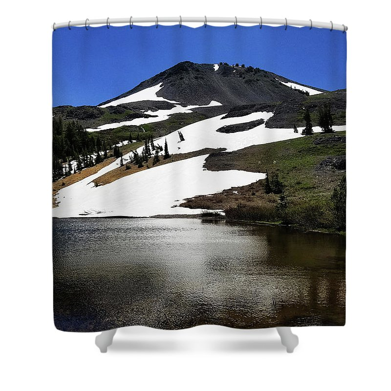 Hiram Peak Shower Curtain featuring the photograph Hiram Peak Glaciers by Aaron James