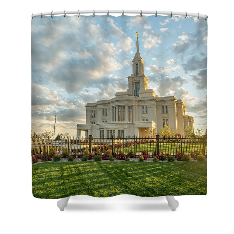 Payson Shower Curtain featuring the photograph His Light by Dustin LeFevre