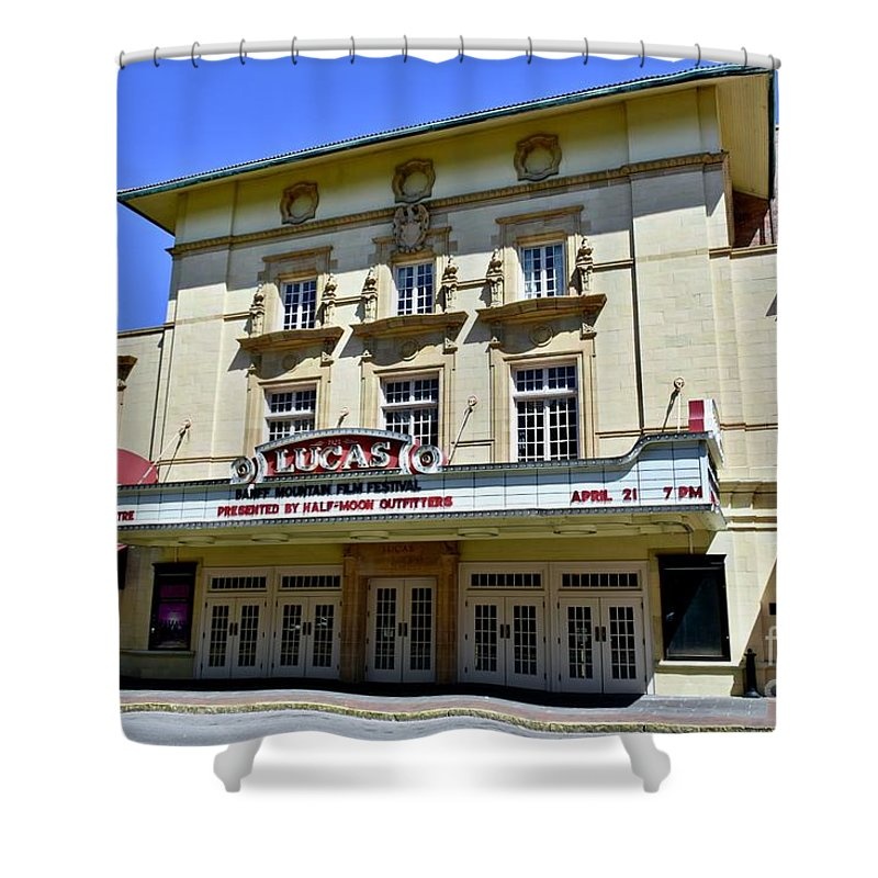 1900s Theater Shower Curtain featuring the photograph Historic 1920s Revived Lucas Theater by Jeramey Lende