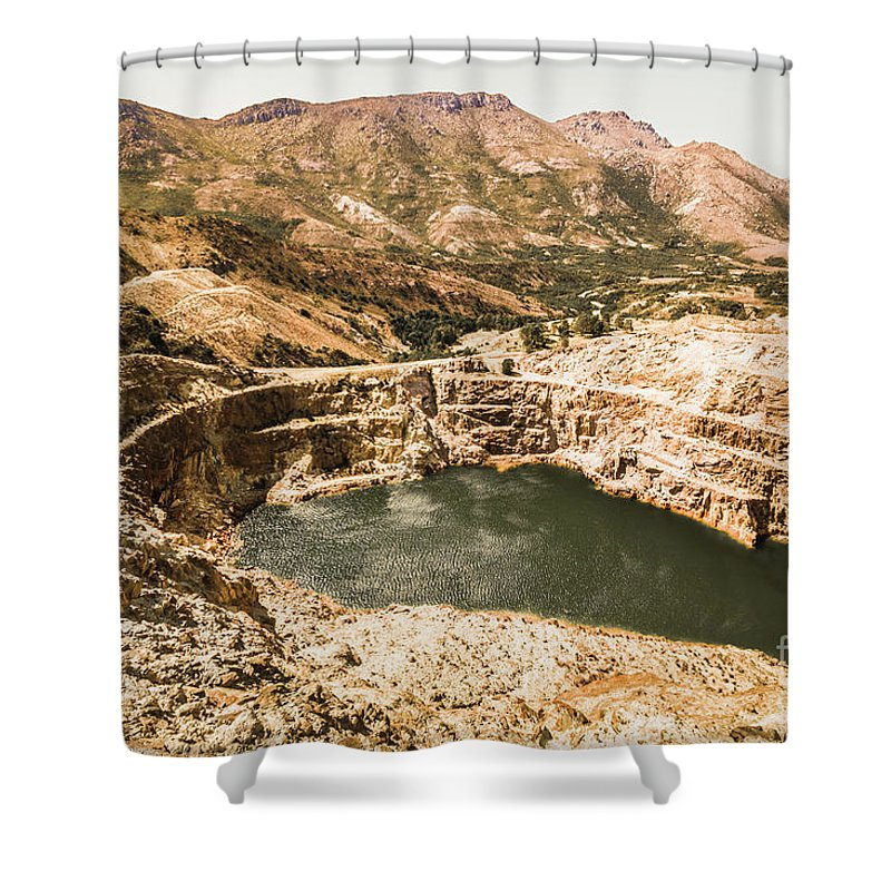 Mine Shower Curtain featuring the photograph Historic Iron Ore Mine by Jorgo Photography - Wall Art Gallery