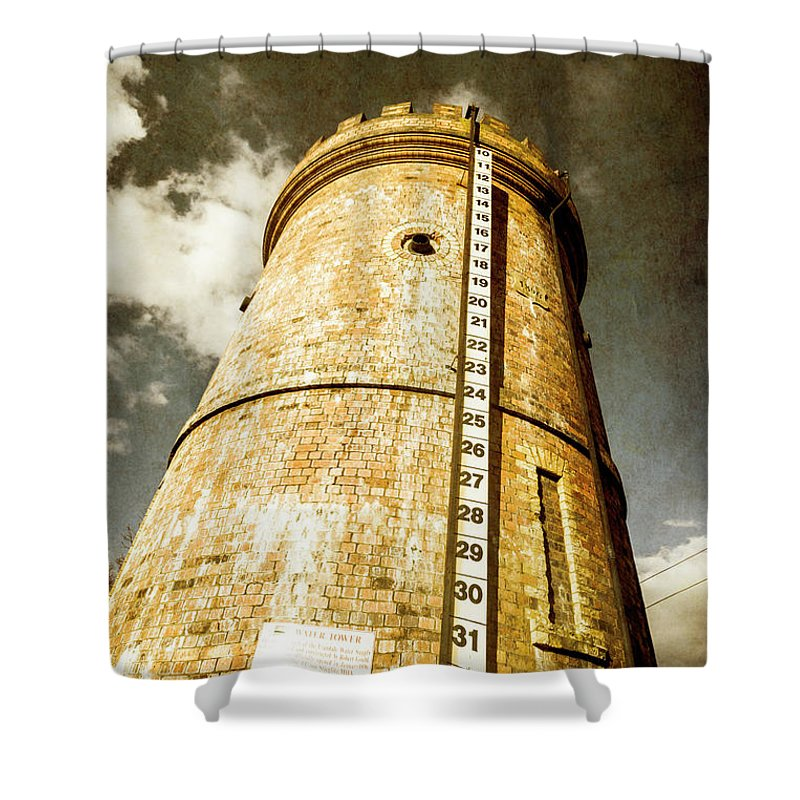 Tower Shower Curtain featuring the photograph Historic Water Storage Structure by Jorgo Photography - Wall Art Gallery