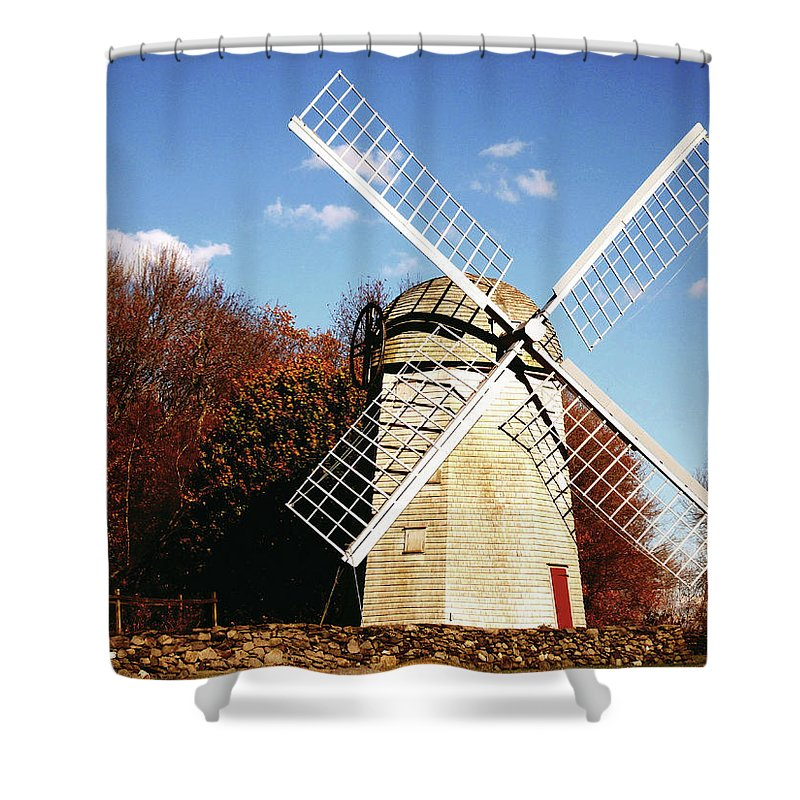 Historical Windmill Shower Curtain featuring the photograph Historical Windmill by Lourry Legarde