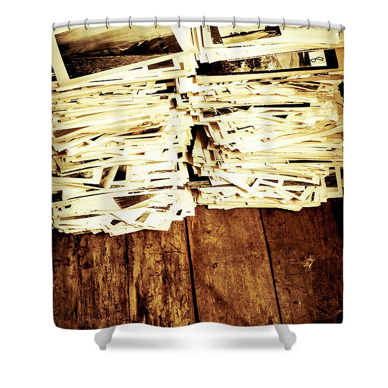 Photographs Shower Curtain featuring the photograph History In Photos by Jorgo Photography - Wall Art Gallery