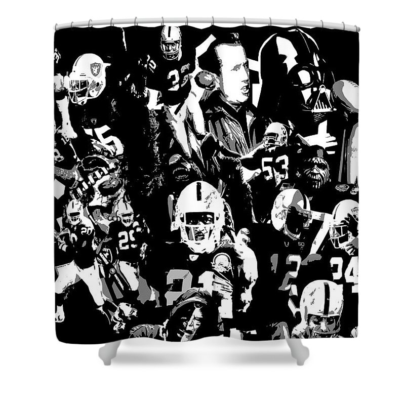 History Raider Nation A Collage Shower Curtain For Sale By John Farr
