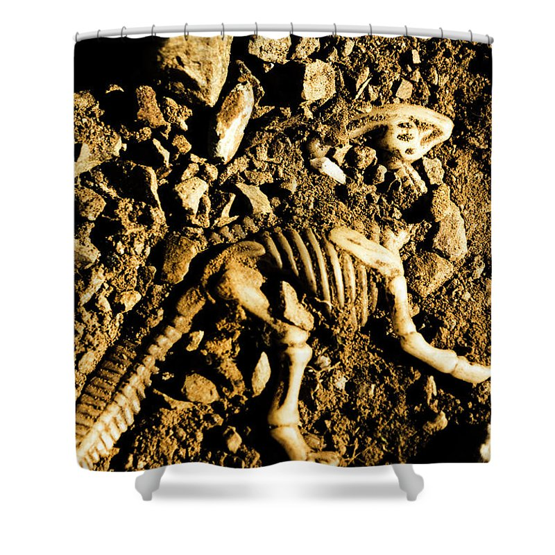 Unearthed Shower Curtain featuring the photograph History Unearthed by Jorgo Photography - Wall Art Gallery