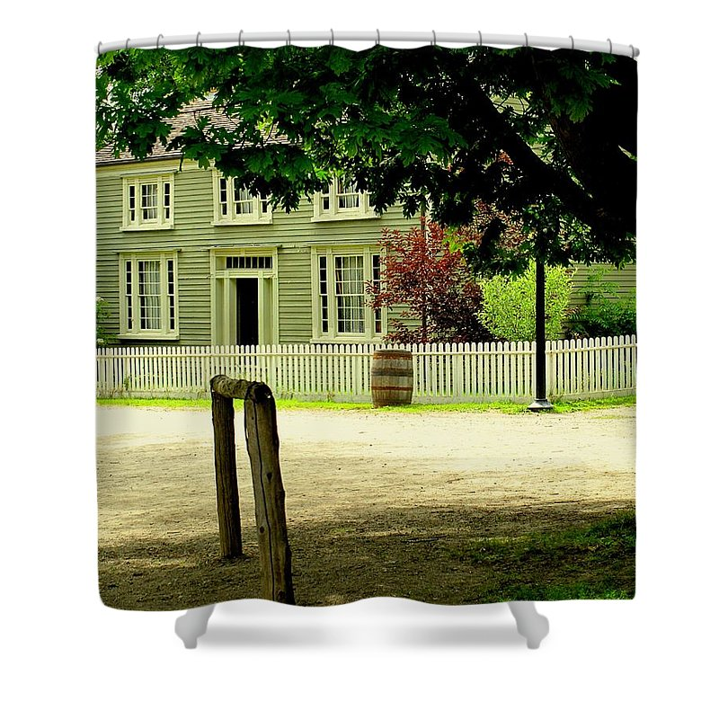 Hitching Post Shower Curtain featuring the photograph Hitching Post by Ian MacDonald