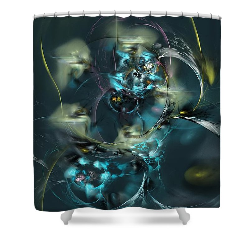 Fantasy Shower Curtain featuring the digital art Hive by David Lane