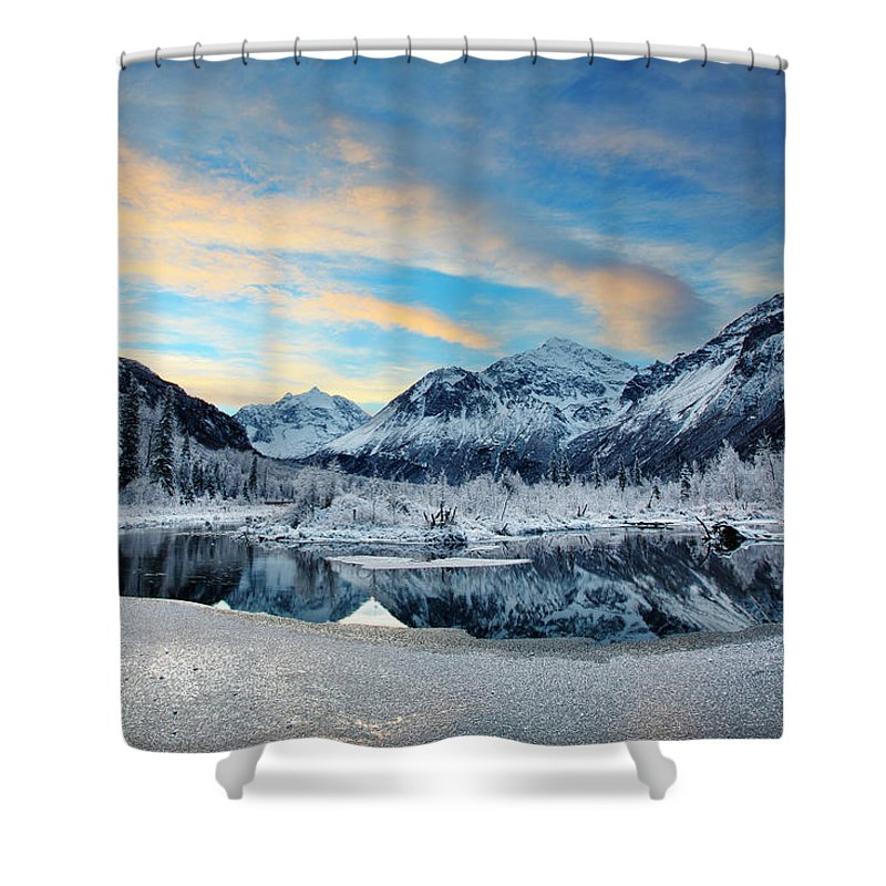 Alaska Shower Curtain Featuring The Photograph Hoar Frost By Ed Boudreau