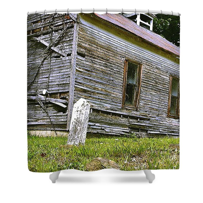 Church Shower Curtain featuring the photograph Hocking Hills Church by Nelson Strong