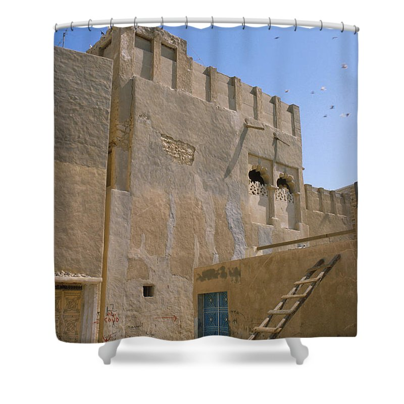 Hofuf Shower Curtain featuring the photograph Hofuf Alley by Jerry McElroy