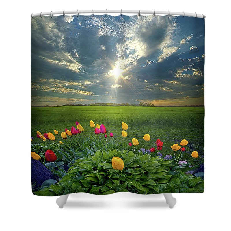 Clouds Shower Curtain featuring the photograph Hold Fast What Is Good by Phil Koch
