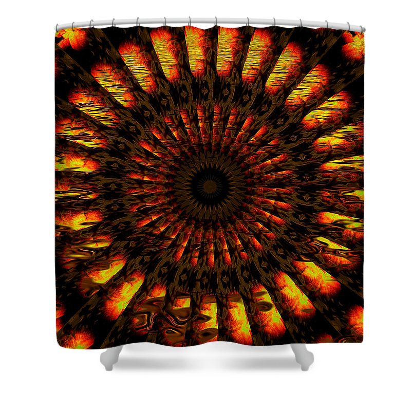 Wheel Shower Curtain featuring the digital art Hold On To Hope by Robert Orinski