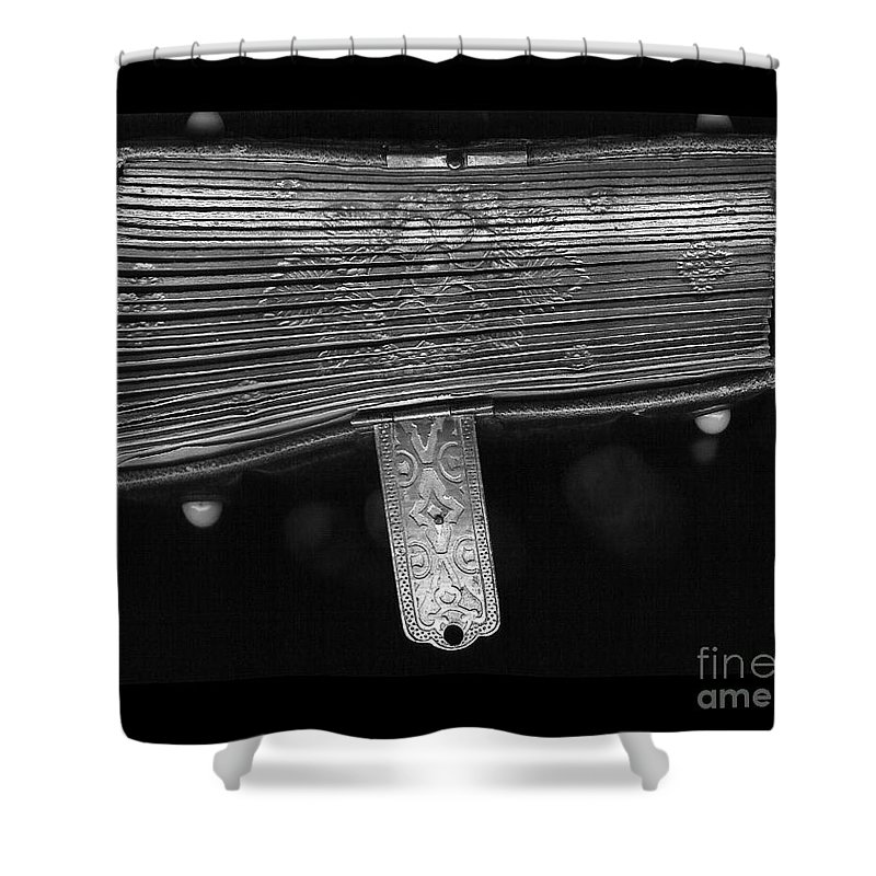 Antique Shower Curtain featuring the photograph Holding Time - 2 by Linda Shafer