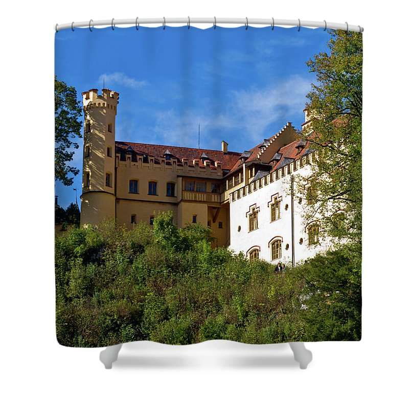 Schloss Shower Curtain featuring the photograph Holenschwangau Castle 3 by Bernard Barcos