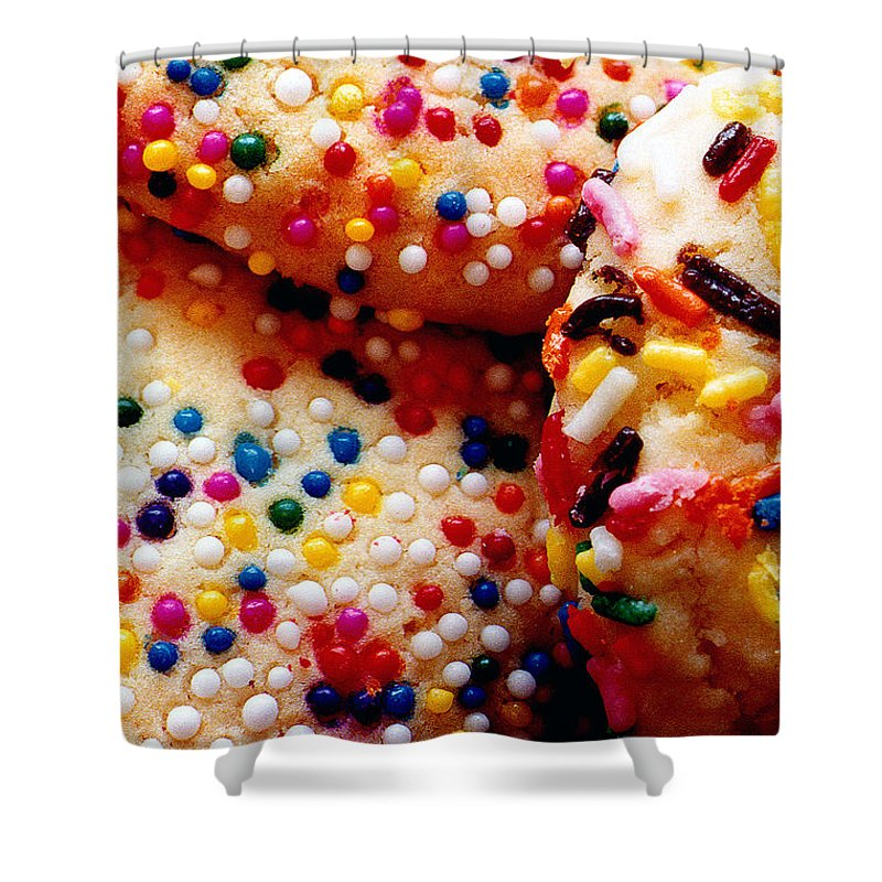 Cookie Shower Curtain featuring the photograph Holiday Cookies by Nancy Mueller