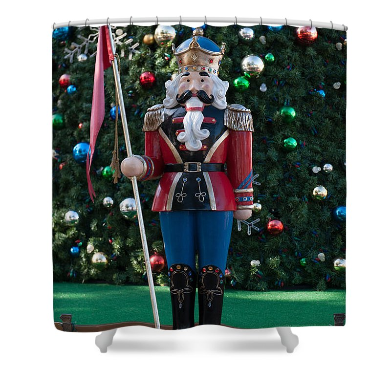 Holiday Nutcracker Shower Curtain featuring the photograph Holiday Nutcracker by Dale Powell
