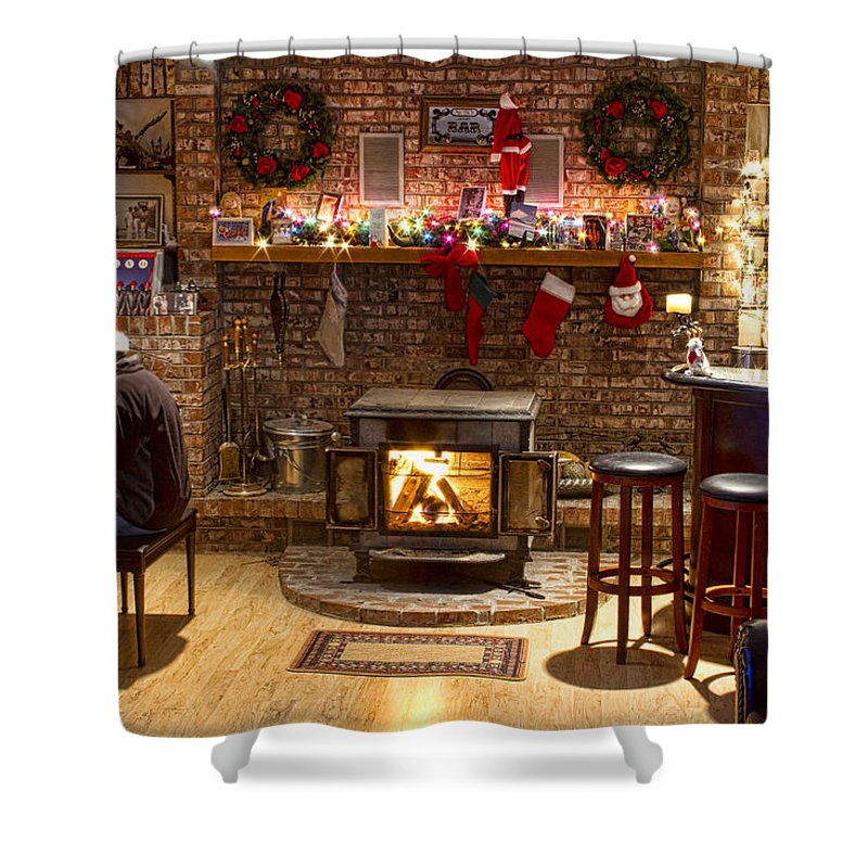 Christmas Shower Curtain featuring the photograph Holiday Spirit by James BO Insogna