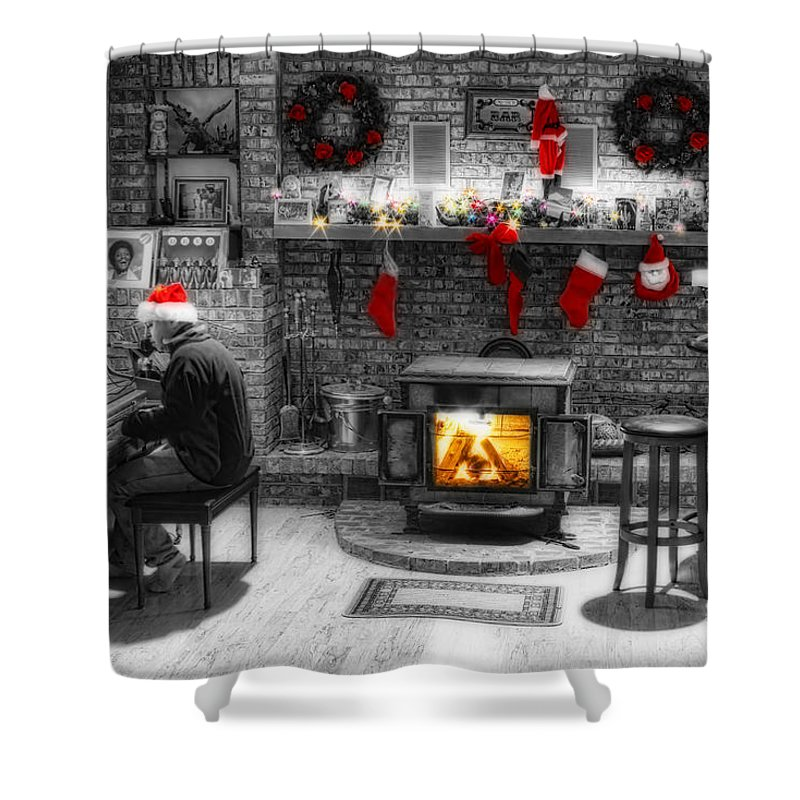 Holidays Shower Curtain featuring the photograph Holiday Spirit Magic Dream by James BO Insogna