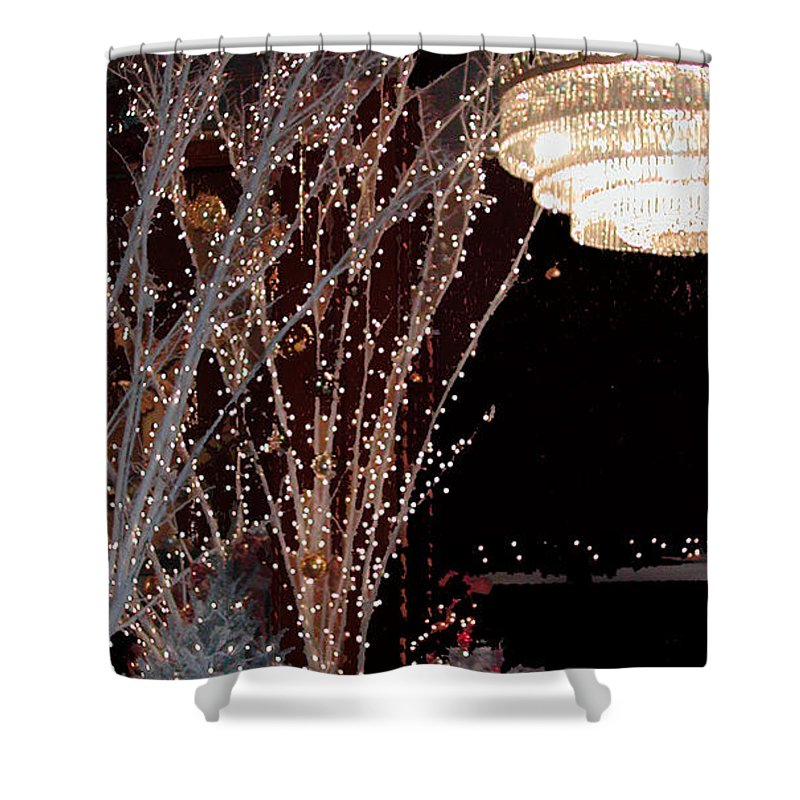 Holiday Shower Curtain featuring the photograph Holiday Wonderland Of Lights 2 by Frances Hattier