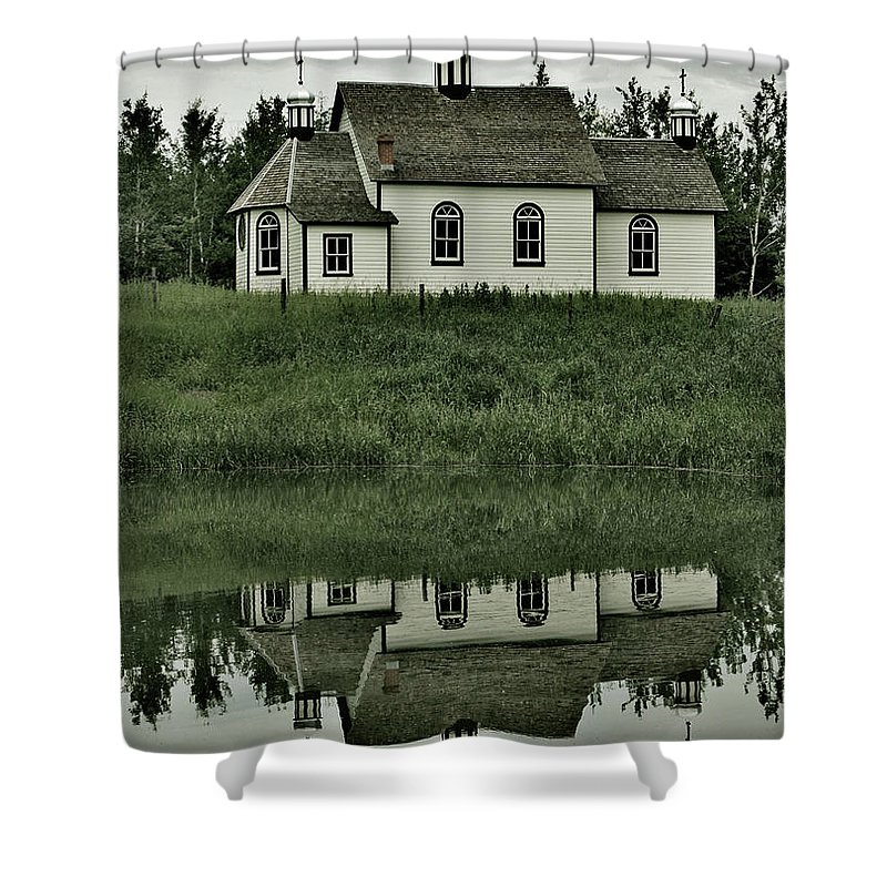 Church Shower Curtain featuring the photograph Holy Pond by The Artist Project