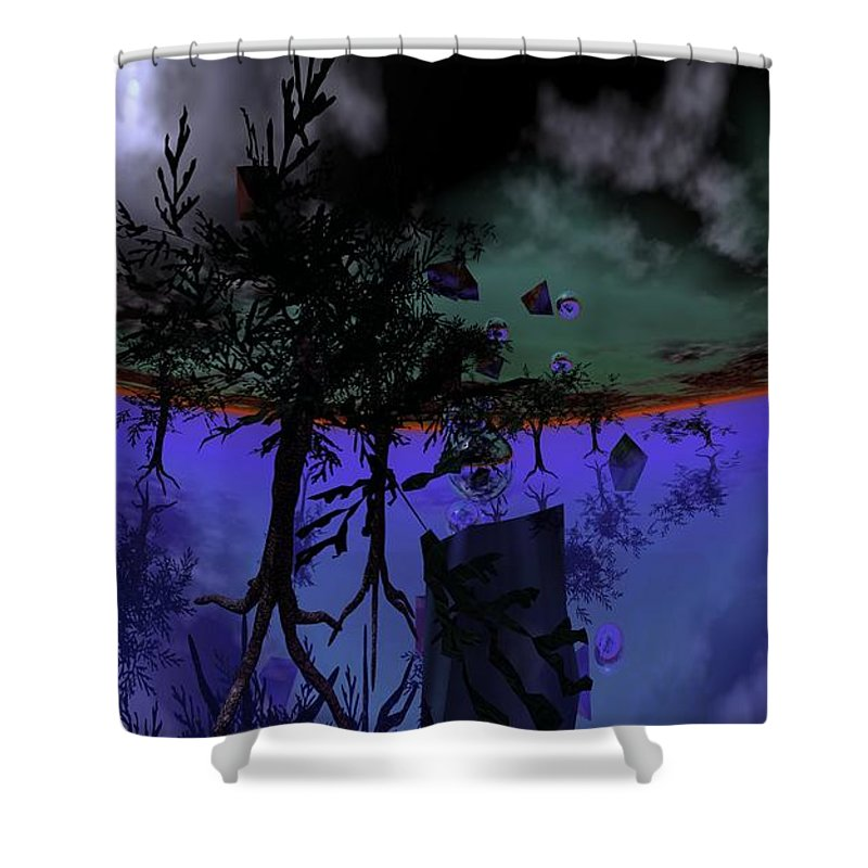 Digital Painting Shower Curtain featuring the digital art Homage by David Lane