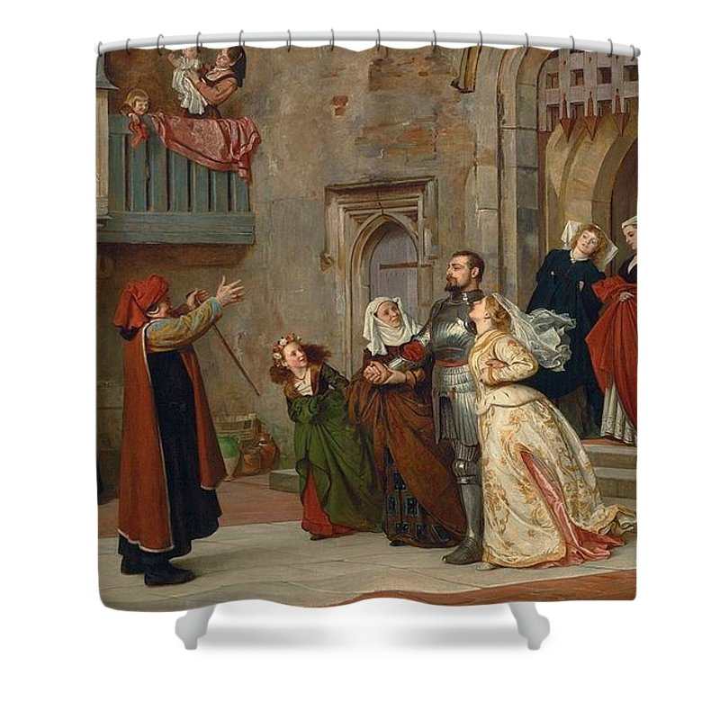Philip Calderon - Home After Victory 1867 Shower Curtain featuring the painting Home After Victory by MotionAge Designs