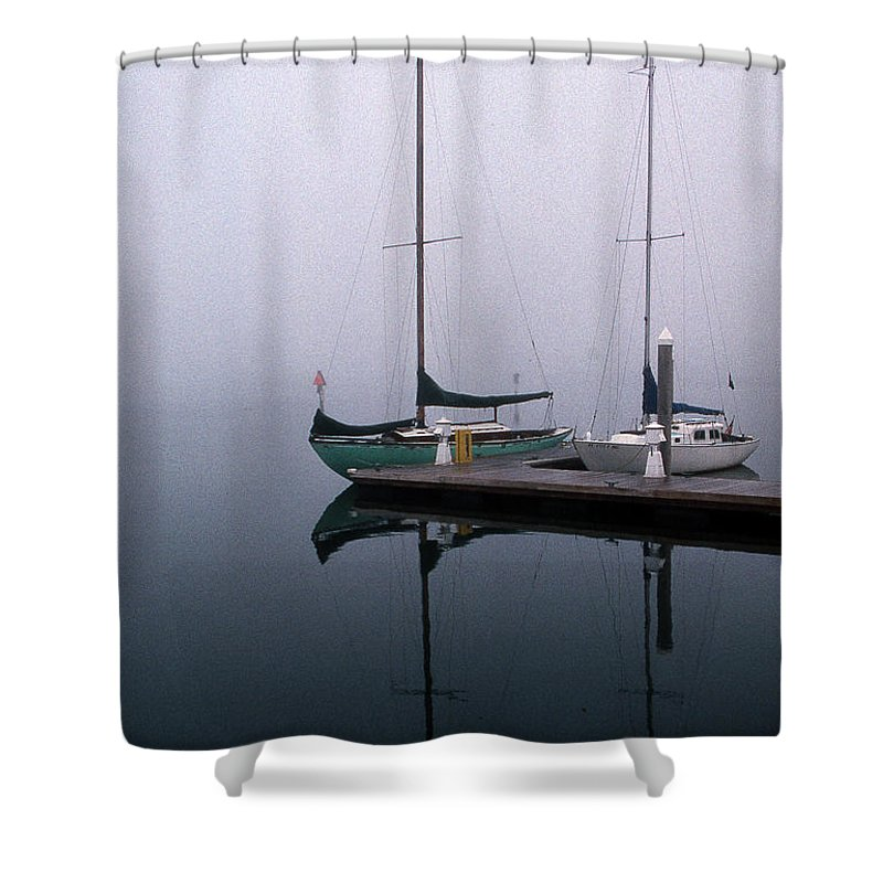 Marine Shower Curtain featuring the photograph Home Again by Skip Willits