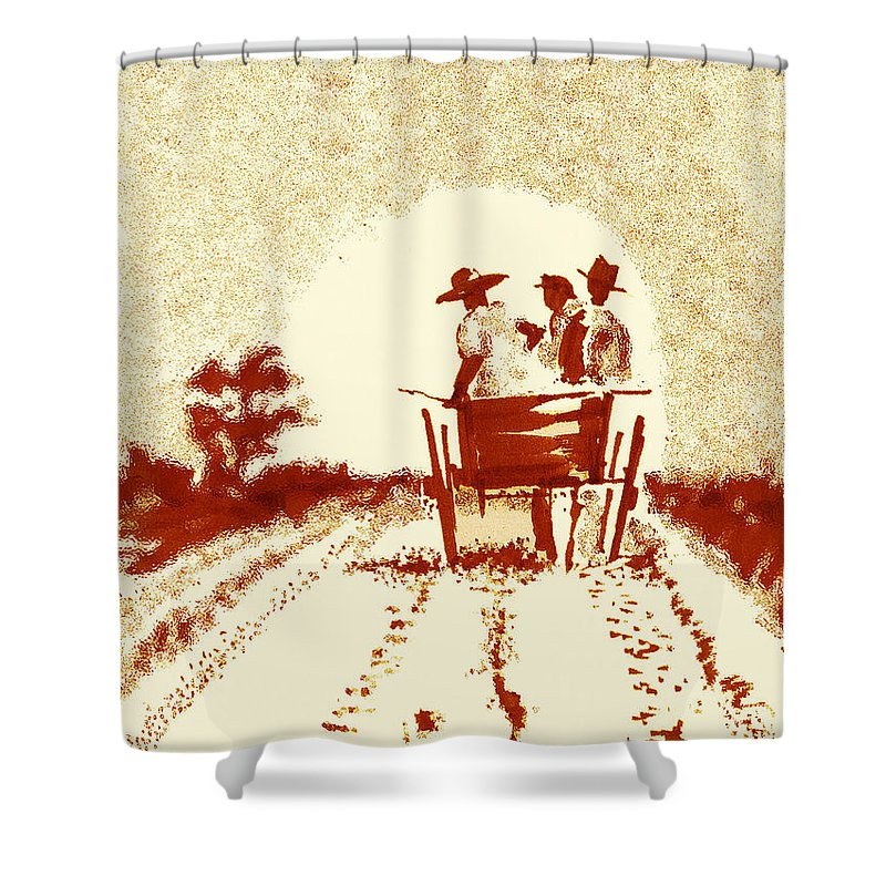 Old South Shower Curtain featuring the digital art Home Before Dark by Seth Weaver